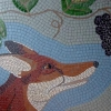 Fox and Grapes mosaic by Mosaic Artist, Sue Kershaw