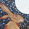 Hare and Moon mosaic by Mosaic Artist, Sue Kershaw