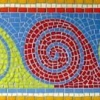 Waves roman mosaic by Mosaic Artist, Sue Kershaw