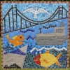 Endeavour High School, Hull mosaic celebrating Hull city identity funded by Arts Council