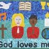 St John the Evangelist RC Primary School, Bradford, West Yorkshire mosaic for the prayer garden