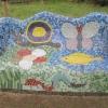Hutton Cranswick Primary School, East Yorkshire Gaudi bench mosaic