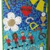 St Joseph's RC Primary School, Bingley, West Yorkshire mosaic celebrating their core values