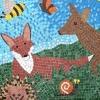 Nascot Wood Junior School, Hertfordshire woodland mosaic