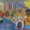 Cottingley Academy Primary School, Leeds Four Seasons School Mosaic - Summer