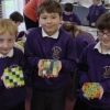 Wheldrake Primary School, York, North Yorkshire mosaic coasters funded by York City Council
